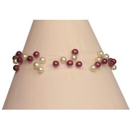 Bracelet perles ivoire et bordeaux BR4268Z