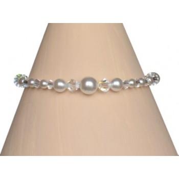 Bracelet mariage blanc et cristal BR4271A
