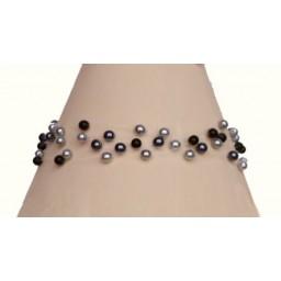 Bracelet mariage perles grises et noir BR4278A