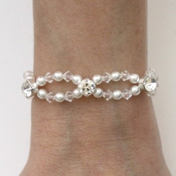 Bracelet mariage blanc cristal strass BR4286A
