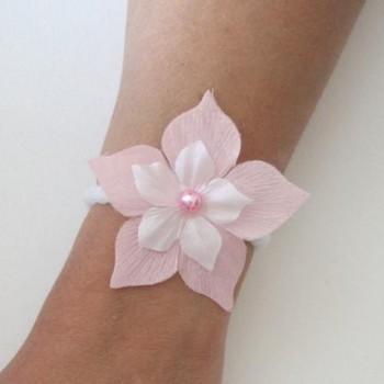 Bracelet mariage rose et blanc BR5200