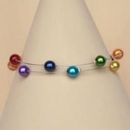 Bracelet mariage arc en ciel BR1249A