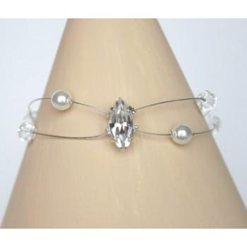 Bracelet mariage blanc cristal BR1238A