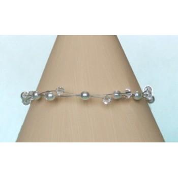 Bracelet mariage blanc cristal BR1240A