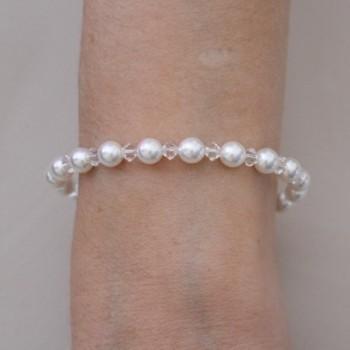 Bracelet mariage blanc cristal BR1262A