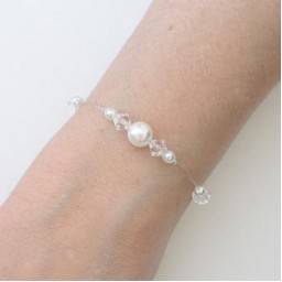 Bracelet mariage blanc cristal BR1254A