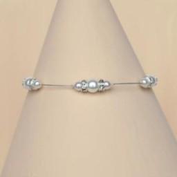 Bracelet mariage blanc et strass BR1250A