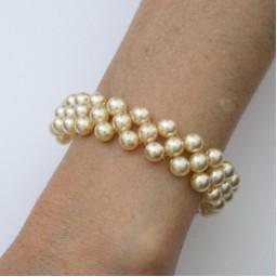 Bracelet mariage perles ivoire BR706A
