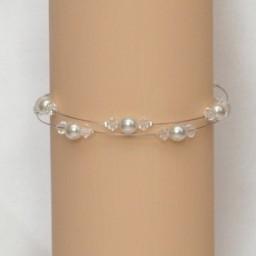 Bracelet mariage blanc et cristal BR1257A