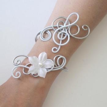 Bracelet clé de sol argent blanc BRA345