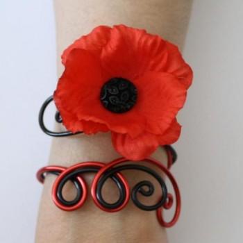 Bracelet coquelicot BRA341