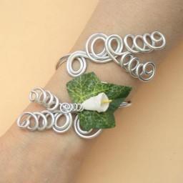 Bracelet mariage arum et lierre COA335