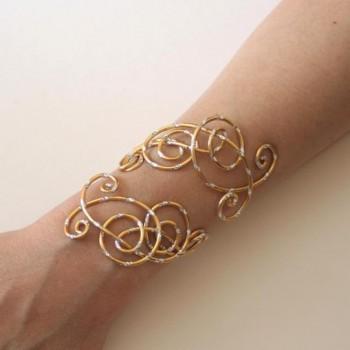 Bracelet mariage or et argent BRA317