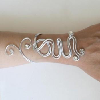 Bracelet mariage oui en argent et strass BRA322