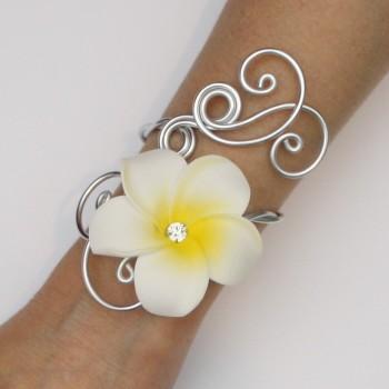 Bracelet mariage fleur de tiaré BRA363