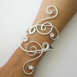 Bracelet mariage blanc argent strass BRA339