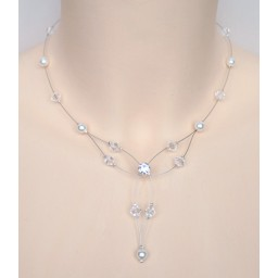 Collier mariage blanc cristal CO1225A