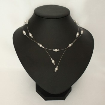 Collier mariage blanc cristal CO1267A