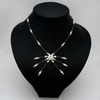 Collier mariage blanc cristal et strass CO1273A