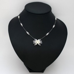 Collier mariage blanc cristal strass CO1275A