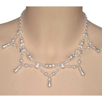 Collier mariage blanc cristal et strass CO4262Z