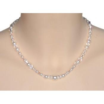 Collier mariage blanc et cristal CO4271A