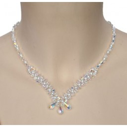 Collier cristal et blanc CO4274A