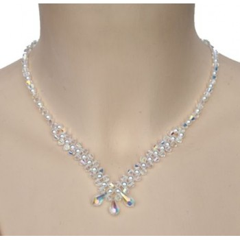 Collier cristal et blanc CO4274A