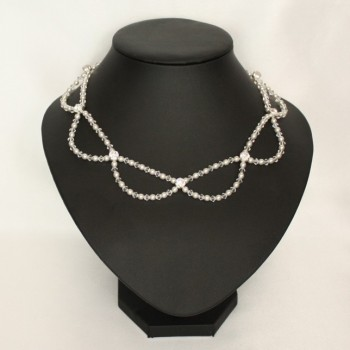 Collier mariage blanc cristal strass CO4286A