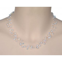 Collier cristal et blanc CO4273A