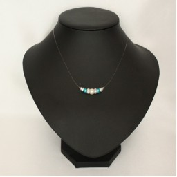 Collier mariage blanc turquoise strass CO4287A