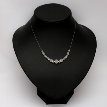 Collier mariage perles cristal et givrées CO4290A