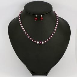 Bijoux personnalisés en blanc et prune