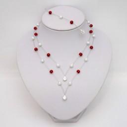 Bijoux personnalisés rouge et blanc Magalie