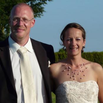 Bijoux de mariage d'Angélique et Noël le 27-06-2009