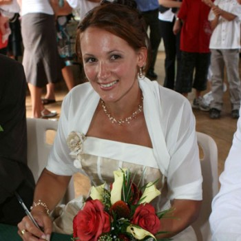 Bijoux de mariage de Christine le 08-08-2009