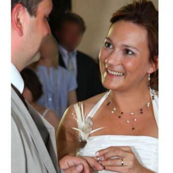 Bijoux de mariage de Céline le 22-05-2010
