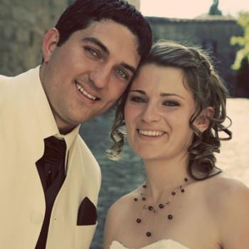 Bijoux de mariage de Marlène et Tony le 26-06-2010