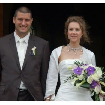 Bijoux de mariage d'Amandine et Miguell le 31-07-2010
