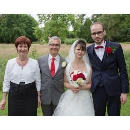 Catherine au mariage de sa fille le 02-07-2016